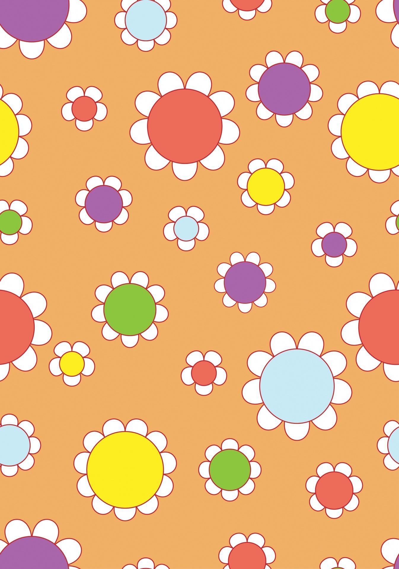 Retro Floral Flowers Flower Wallpaper Free Image From Needpix Com