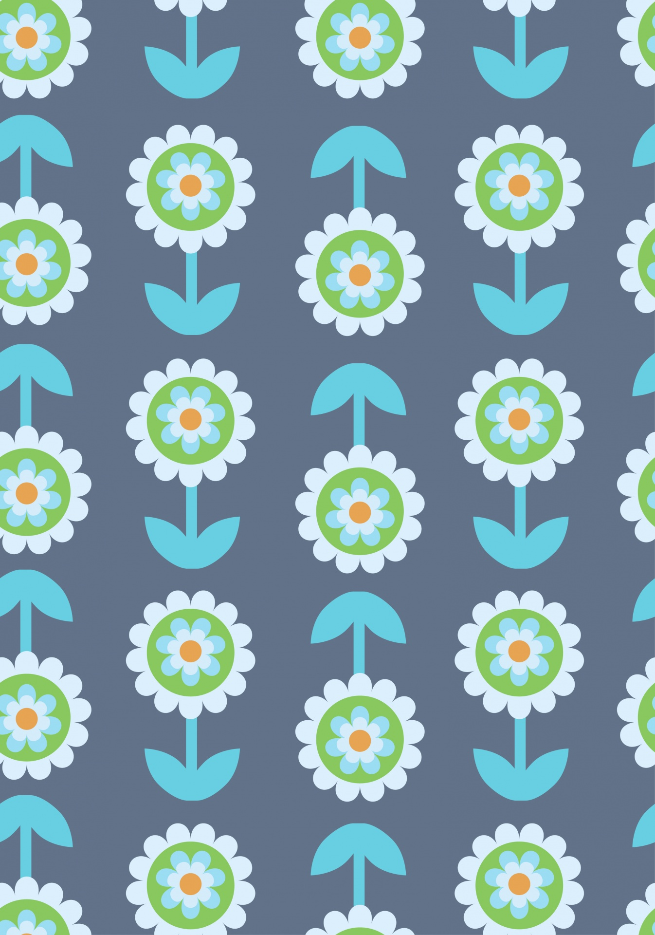 Retro Flowers Floral Flower Wallpaper Free Image From Needpix Com