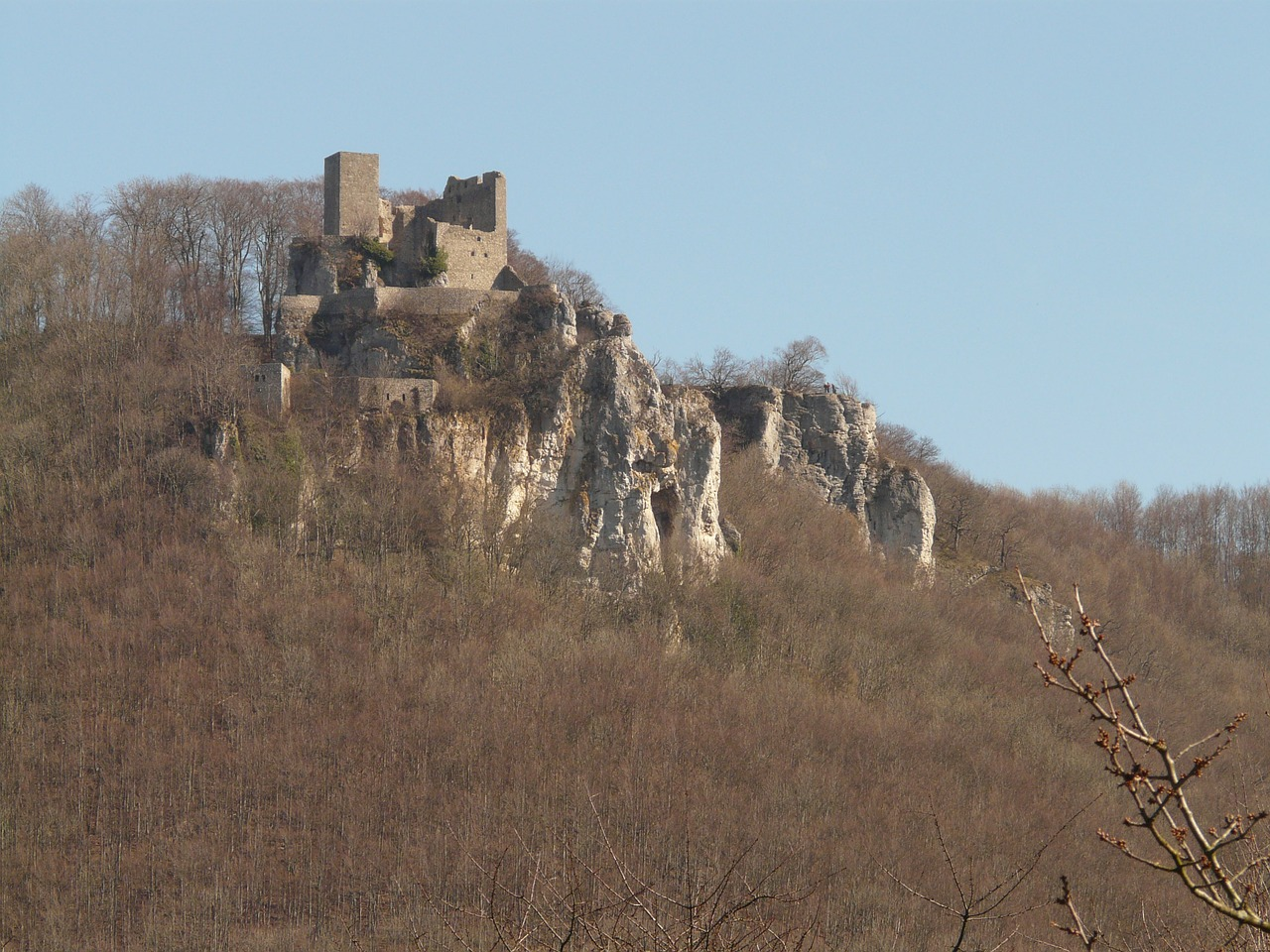 reußenstein castle ruin free photo