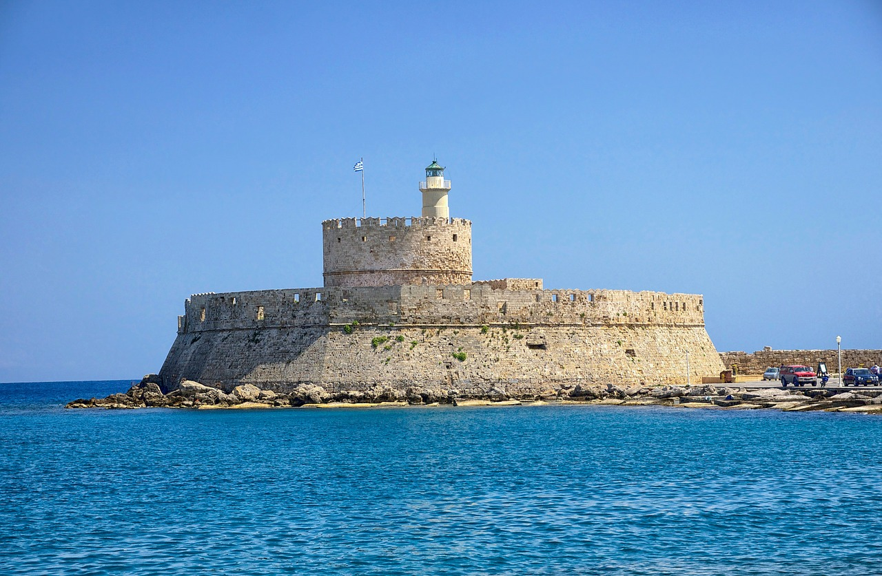 rhodes greece fort saint nicolas free photo
