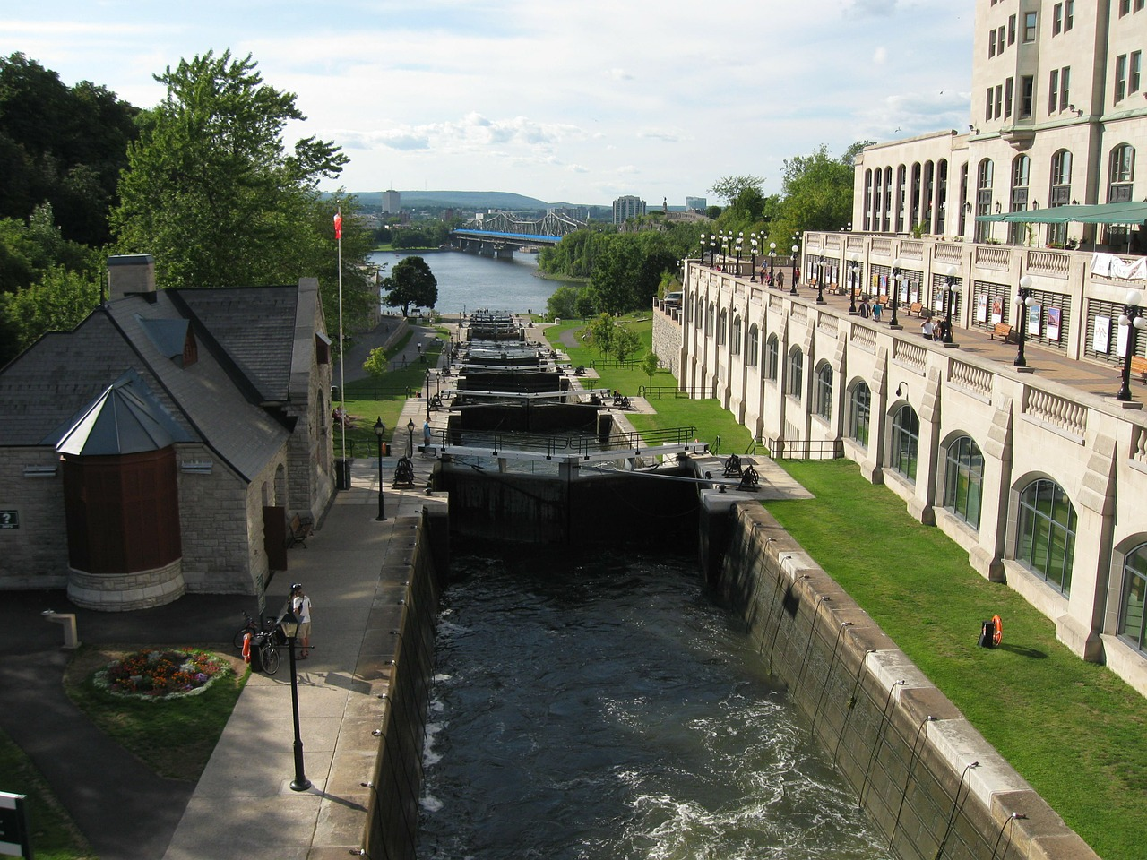 rideau canal ottawa locks free photo