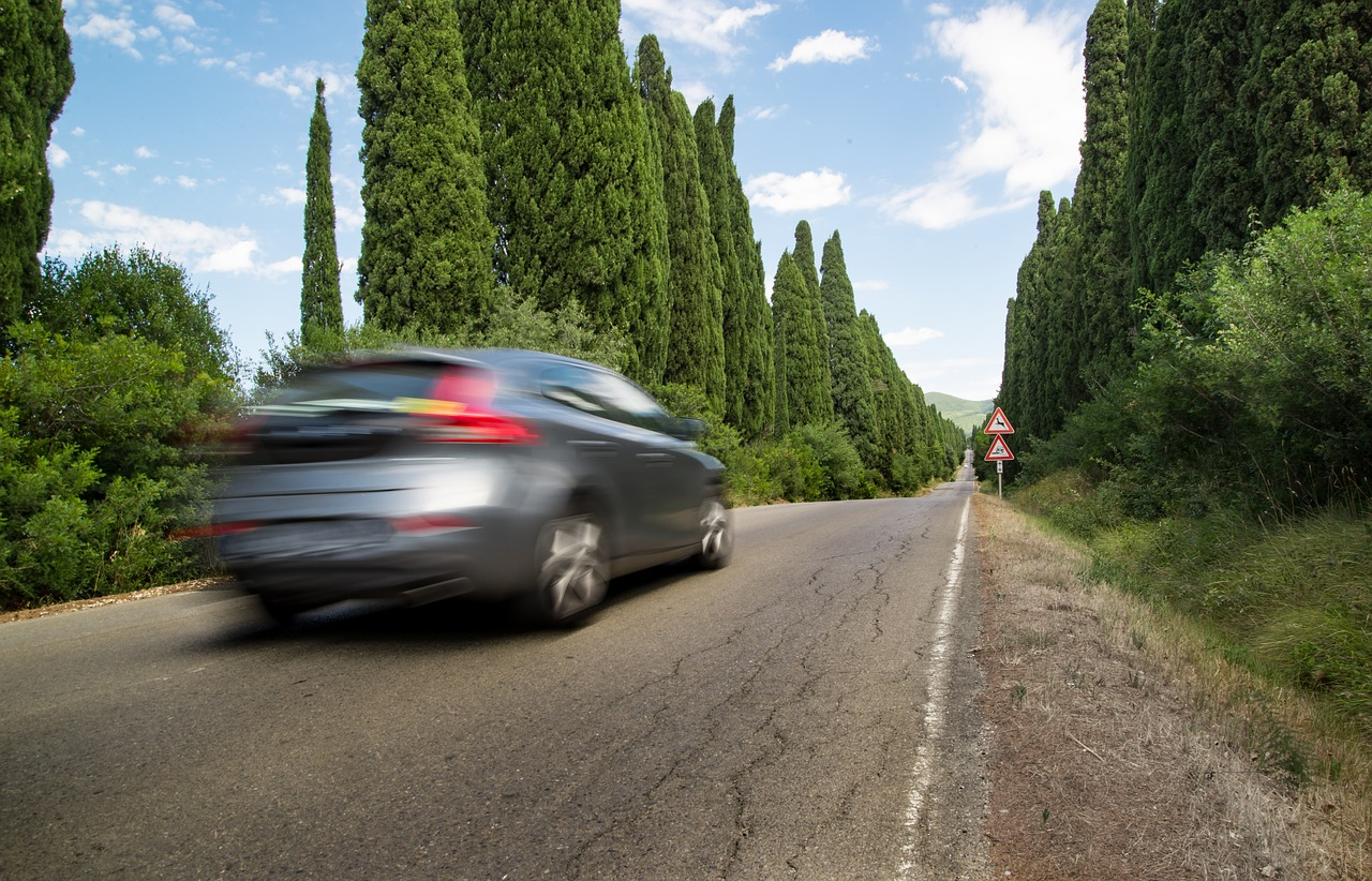 road car motion free photo