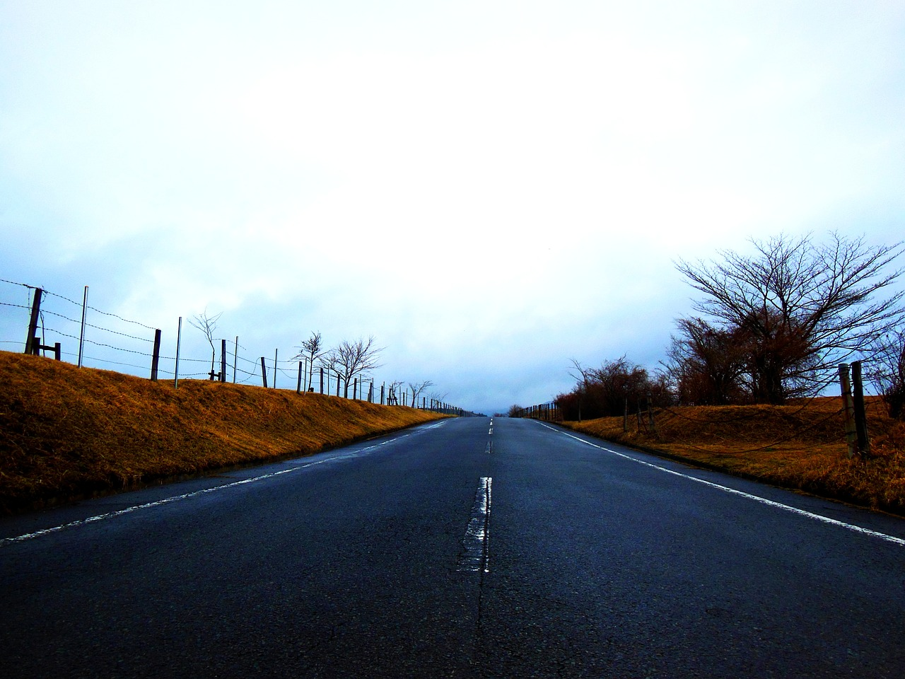 road cloudiness dark free photo