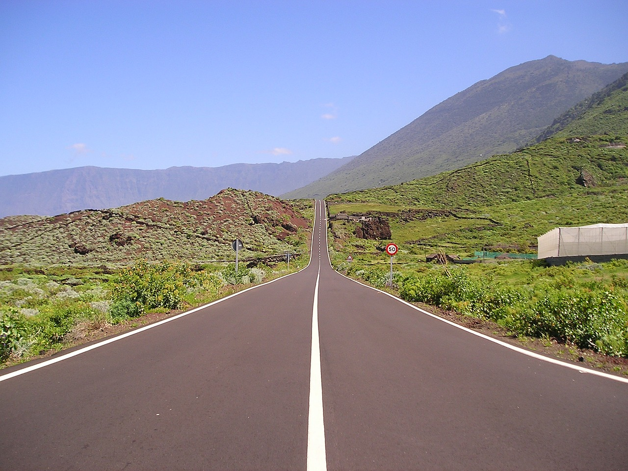 road lonely balearic islands free photo