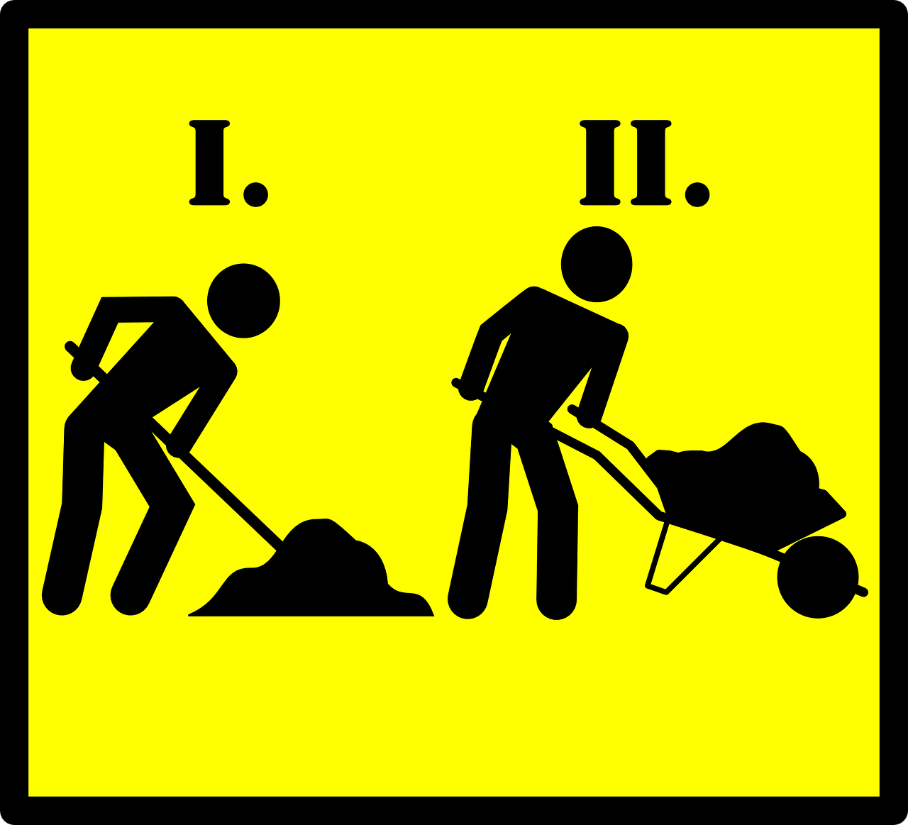 road sign,roadsign,road work,men,worker,sand,road,work,street sign,yellow,black,free vector graphics,free pictures, free photos, free images, royalty free, free illustrations, public domain