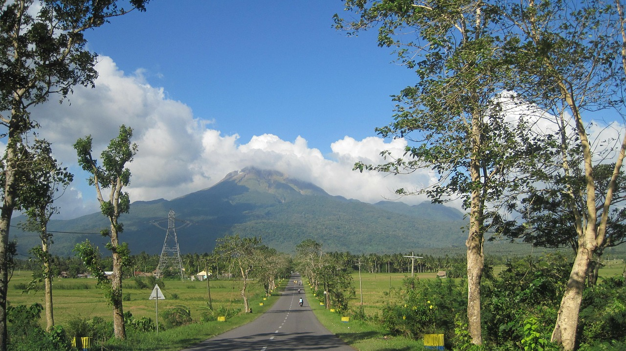 roads woods mount bulusan free photo