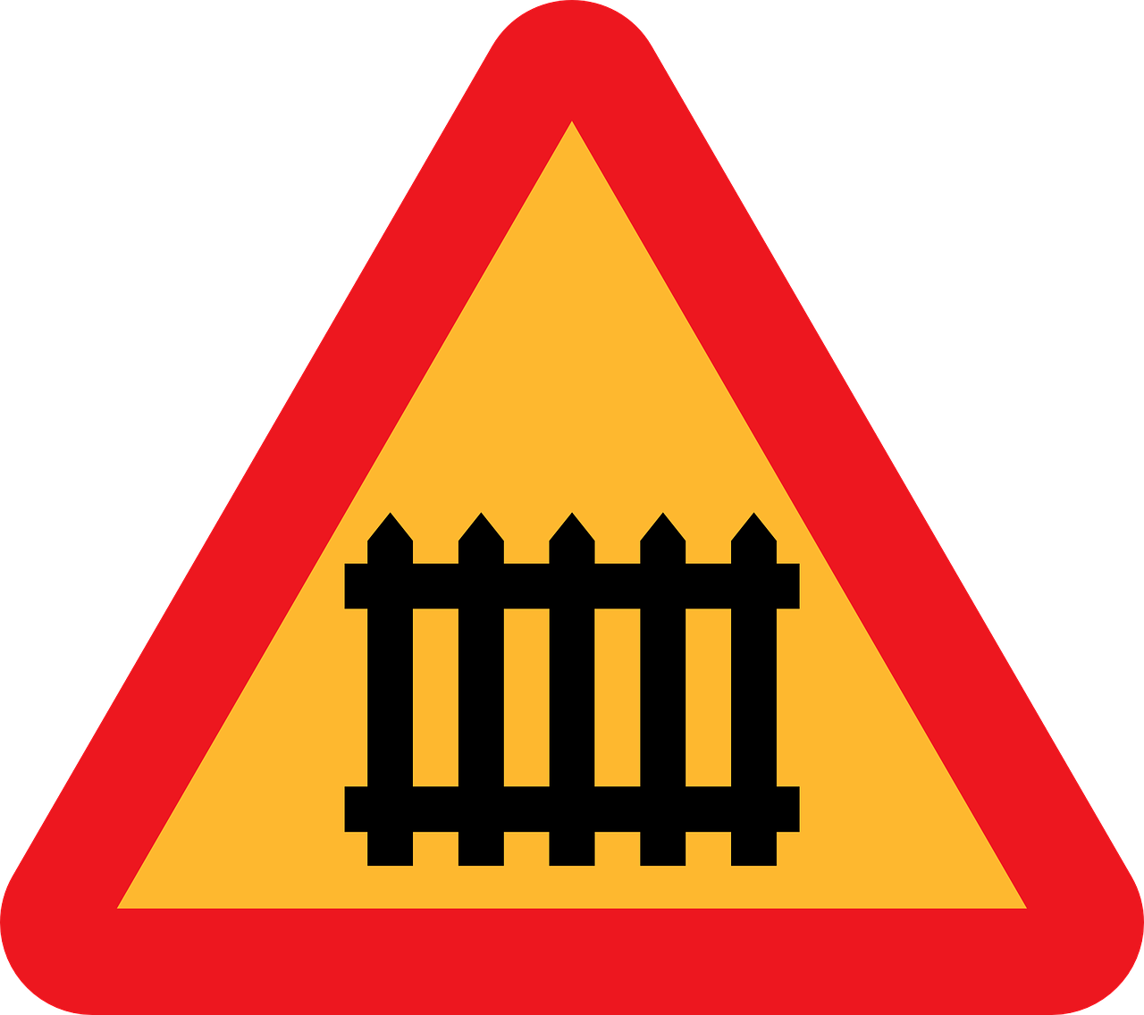 roadsign barrier warning caution sign free photo
