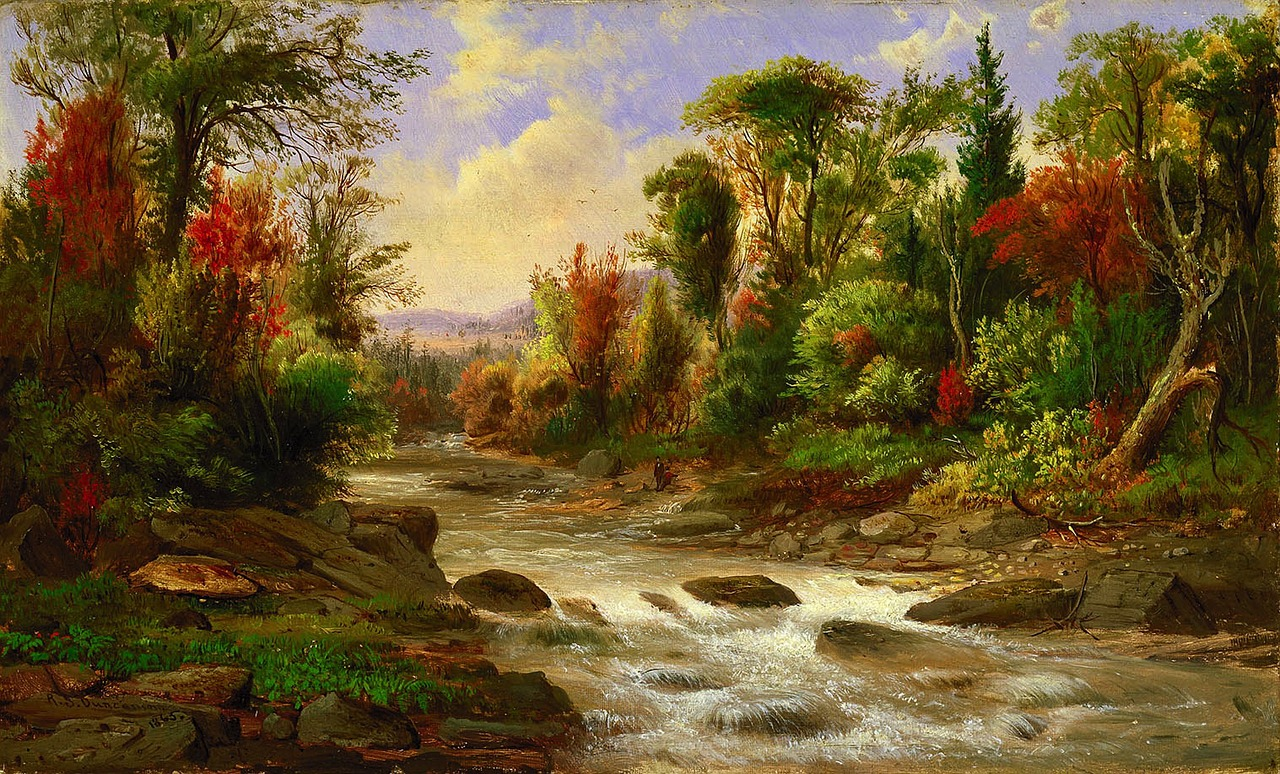 robert duncanson landscape art free photo