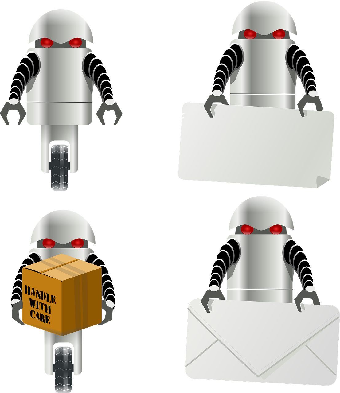 robot delivery letter free photo