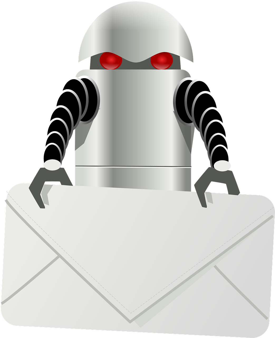 robot carry letter free photo