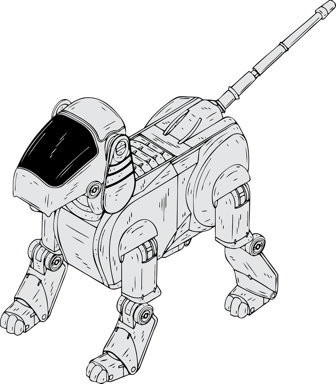 robotic dog electronic free photo