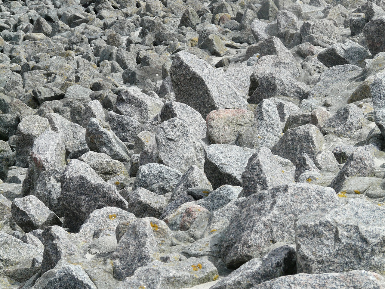 rock scree granite free photo