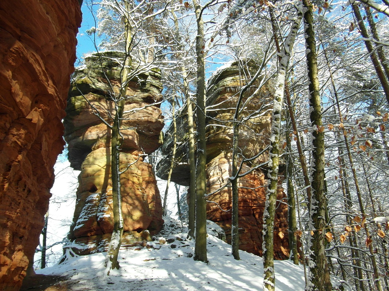 rock palatinate sandstone free photo
