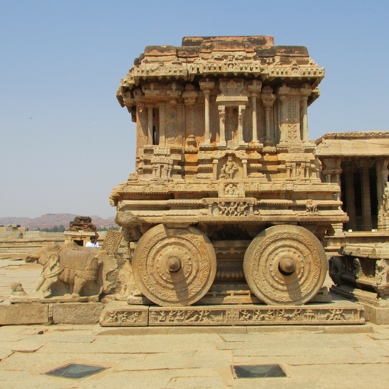 rock chariot hampi unesco world heritage free photo