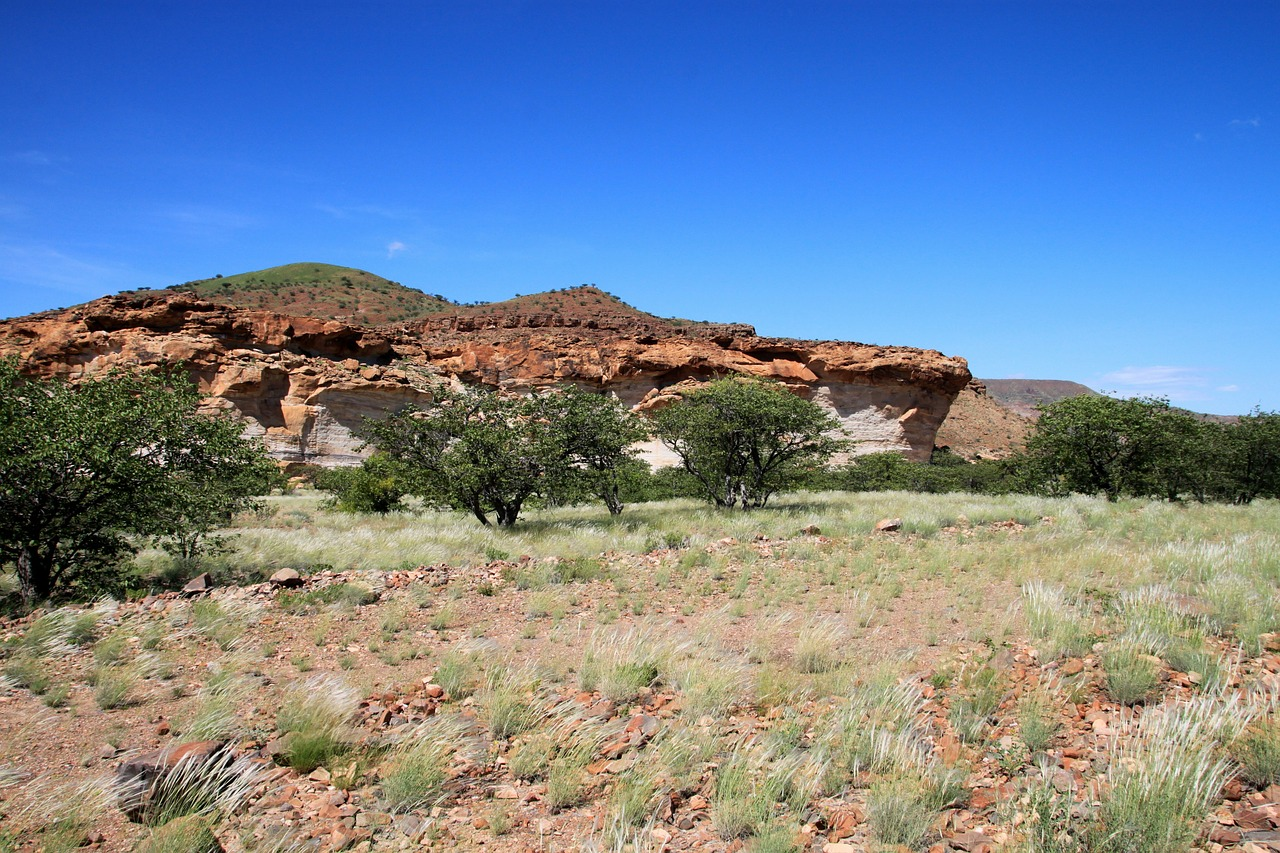 rock formations dry steppe free photo