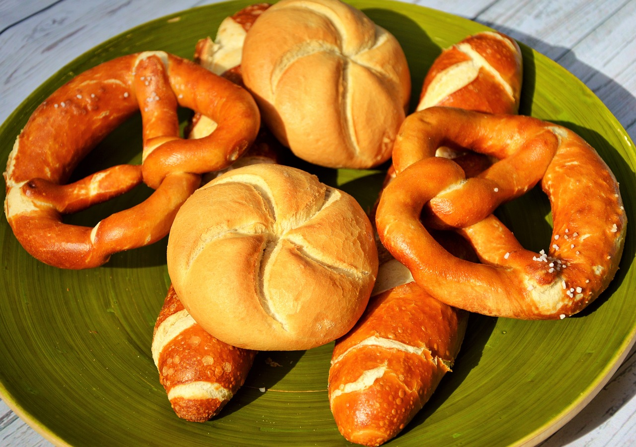 roll pretzels baked goods free photo