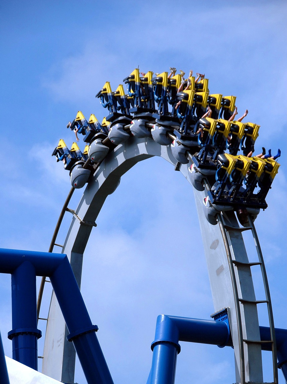 roller coaster ride people free photo