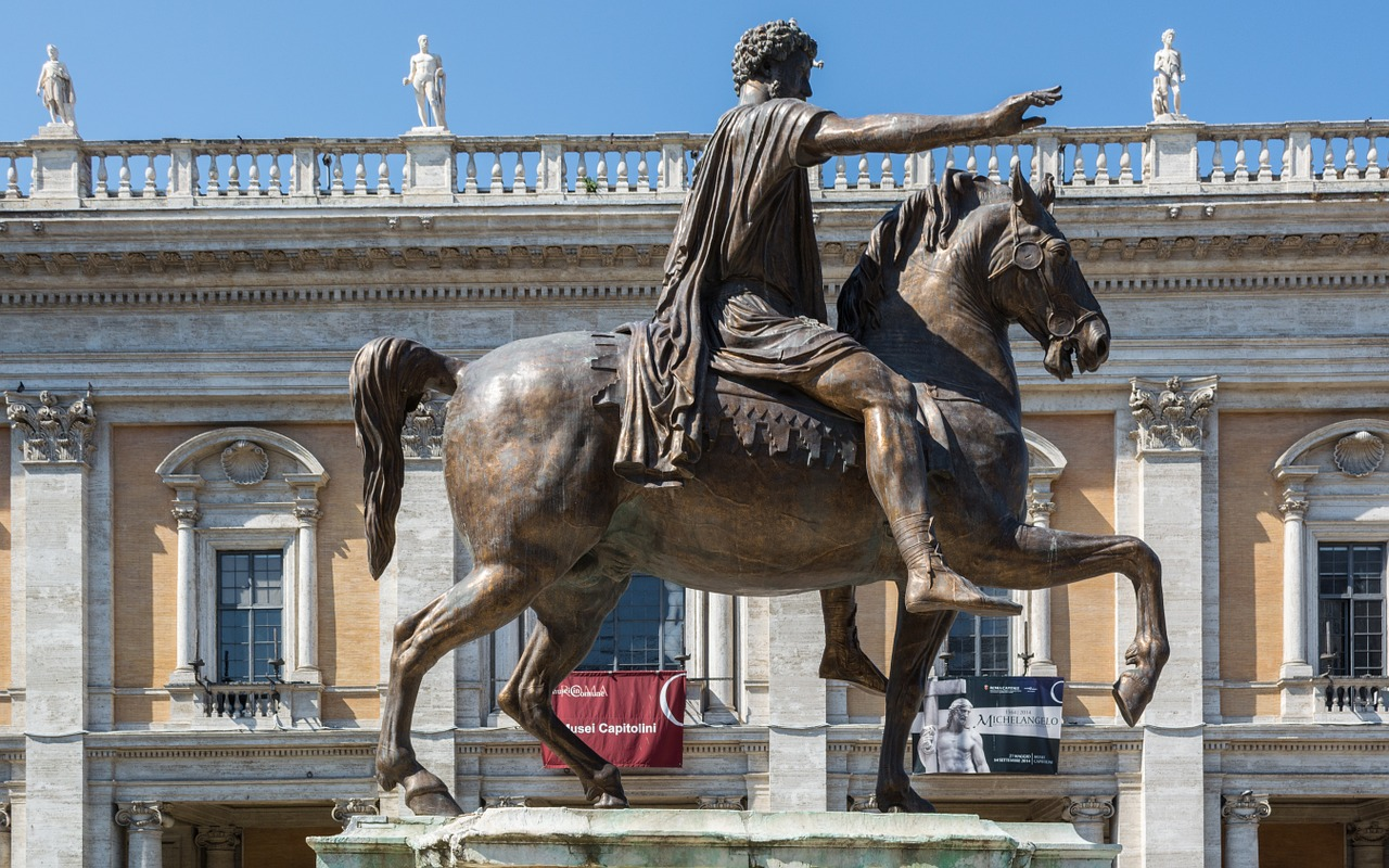 rome capitol square marcus aurelius free photo