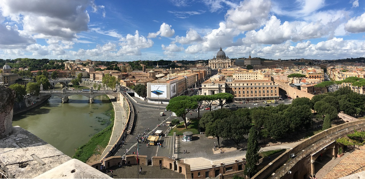 rome view vatican free photo