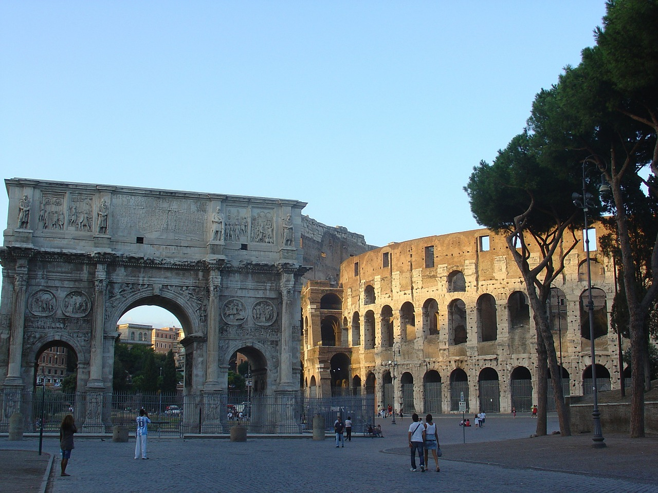 rome colosseum arch of constantine free photo