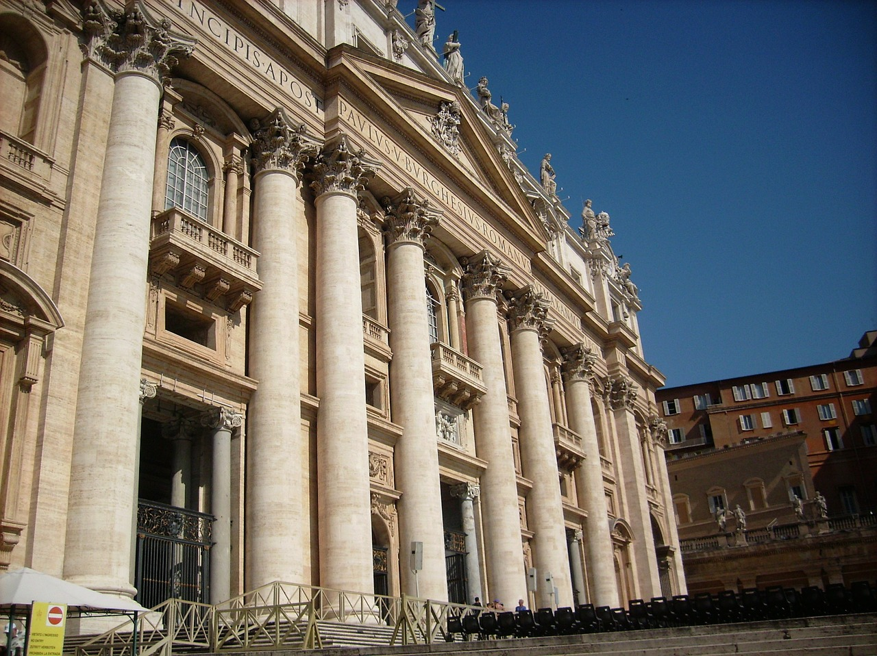 rome st peter's basilica building free photo
