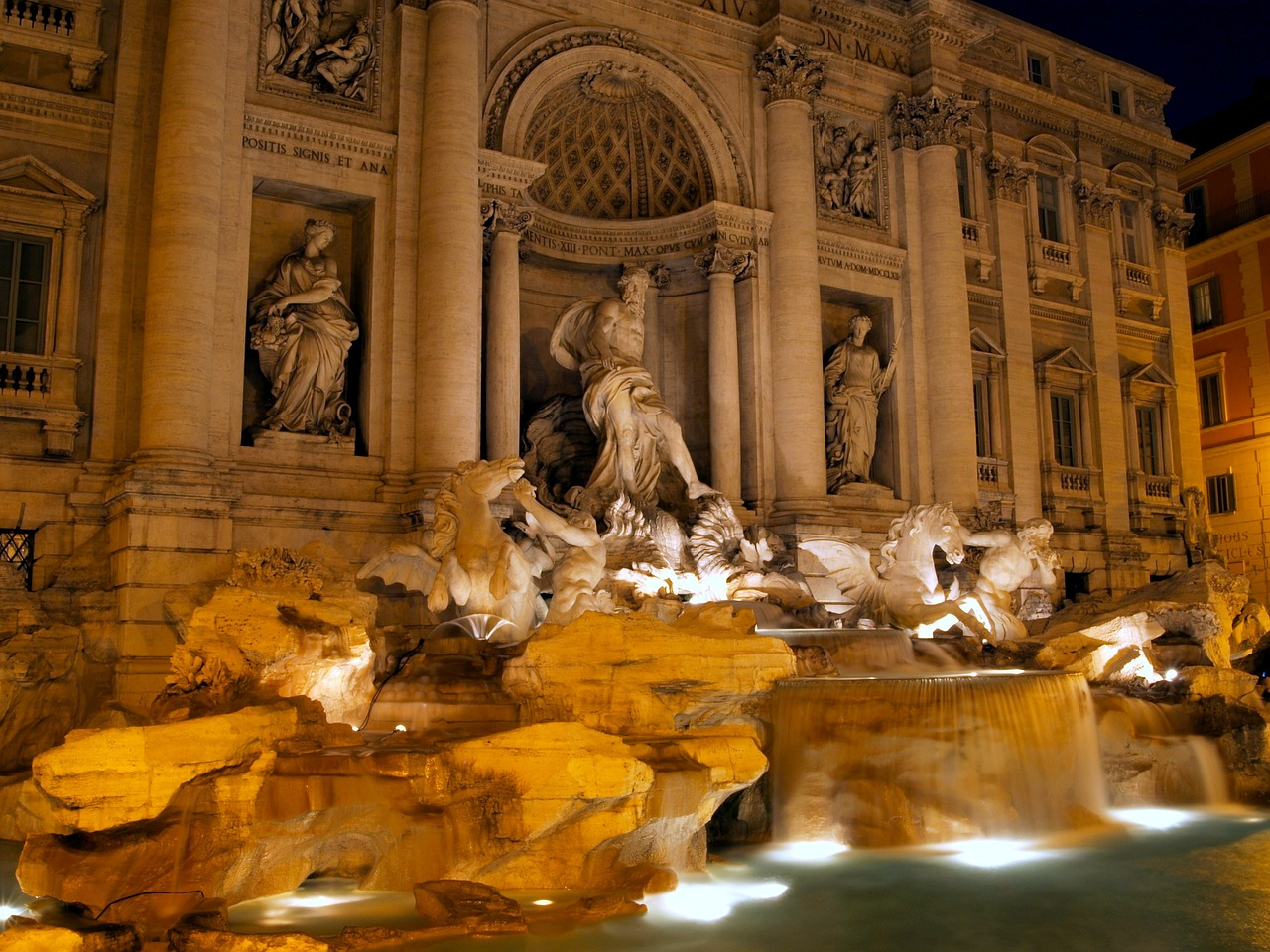 rome italy night free photo