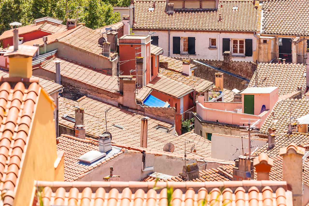 roofs collioure pyrénées free photo
