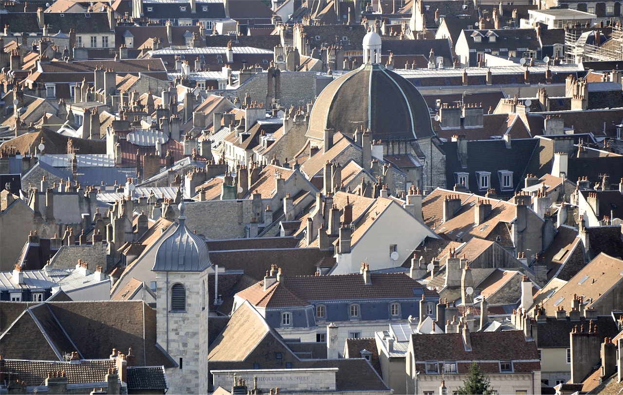 roofs city homes free photo