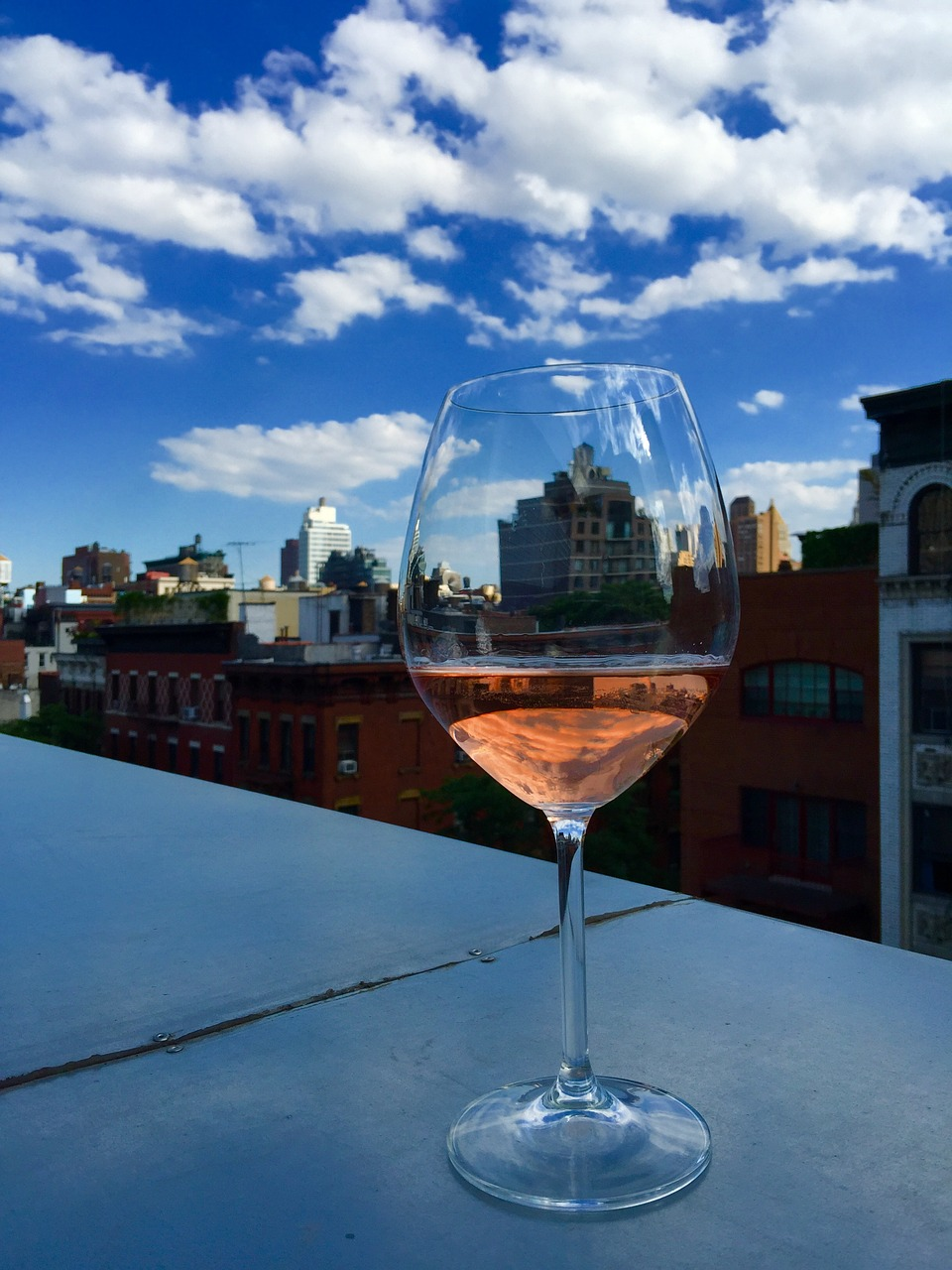 rooftop wine new york free photo