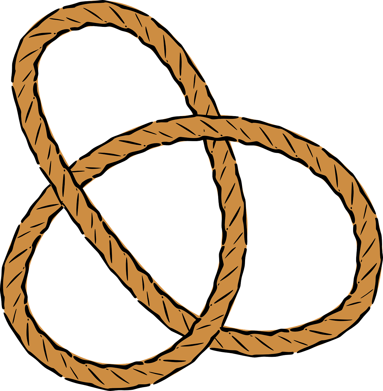 rope,knots,pretzel,trefoil,nautical,tied,design,twisted,fastening,free vector graphics,free pictures, free photos, free images, royalty free, free illustrations, public domain
