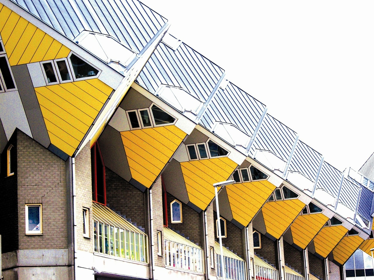 rotterdam cube houses on stilts holland free photo