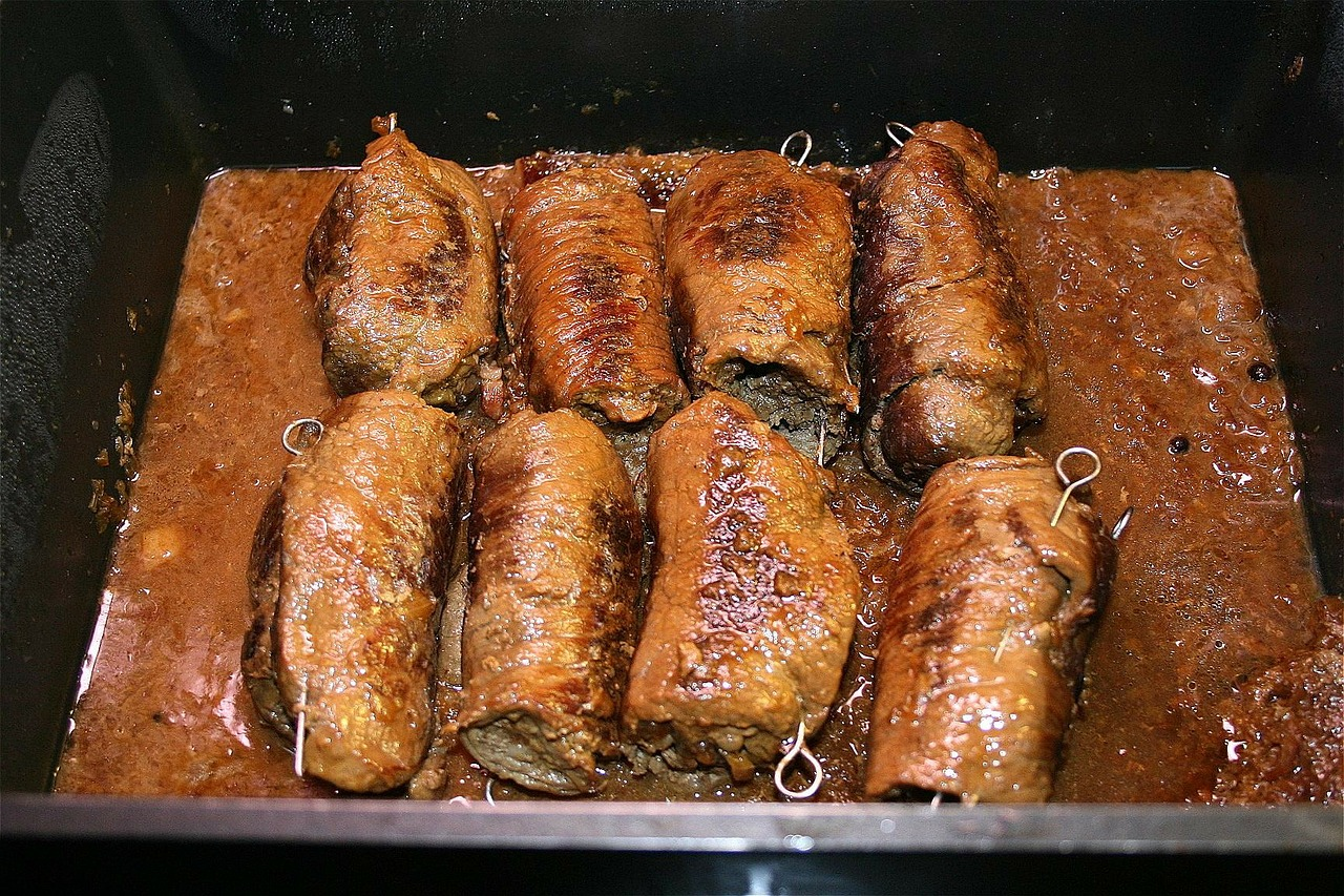 roulades beef roulades meat rolls free photo