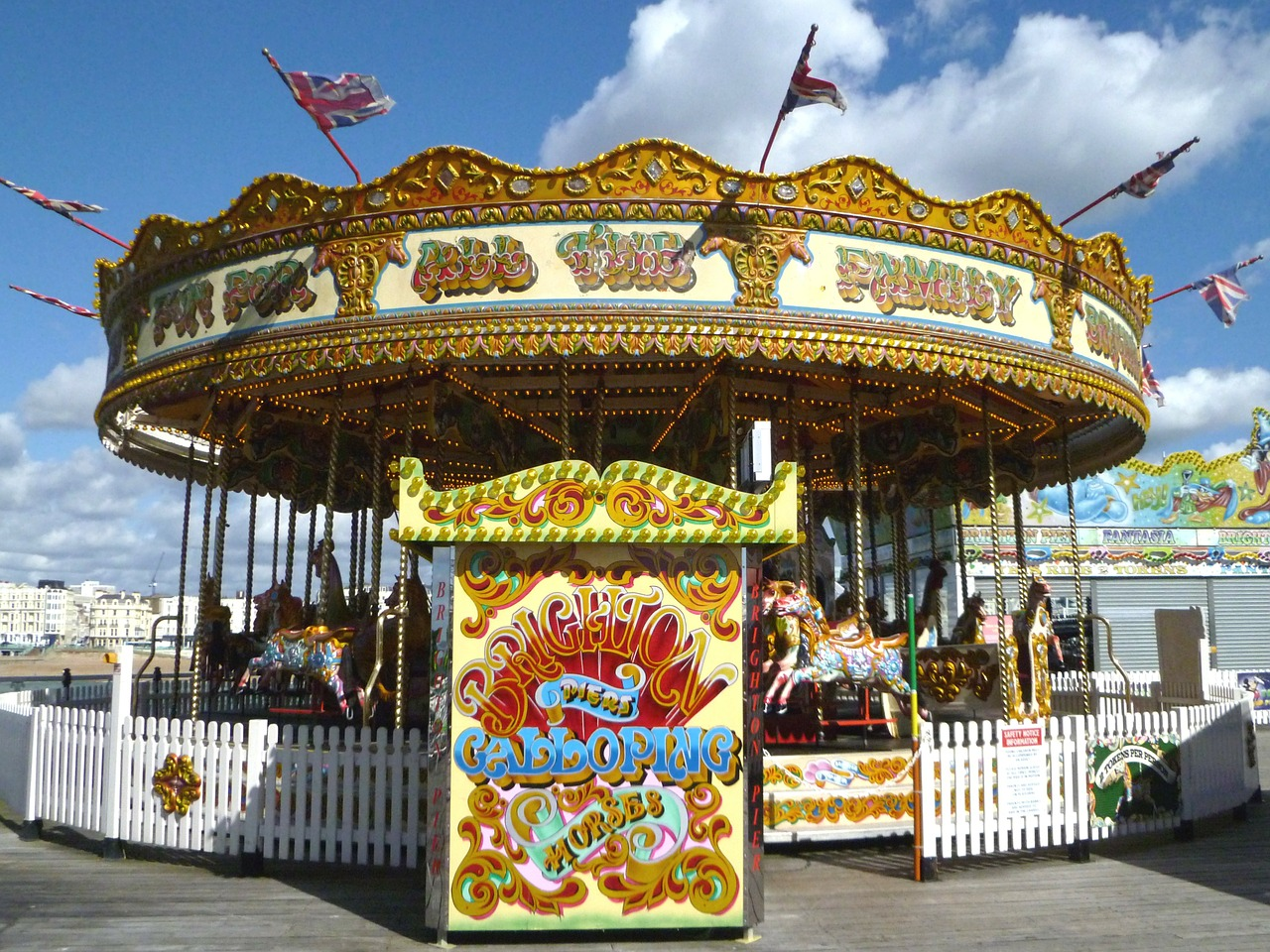 roundabout carousel funfair free photo