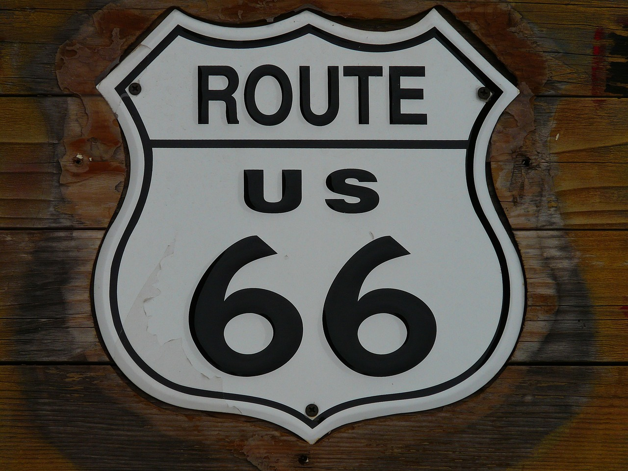 route 66 shield plaque free photo