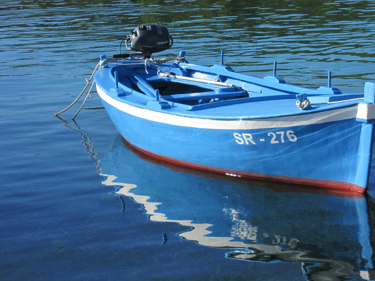 rowing boat wooden boat fishing free photo