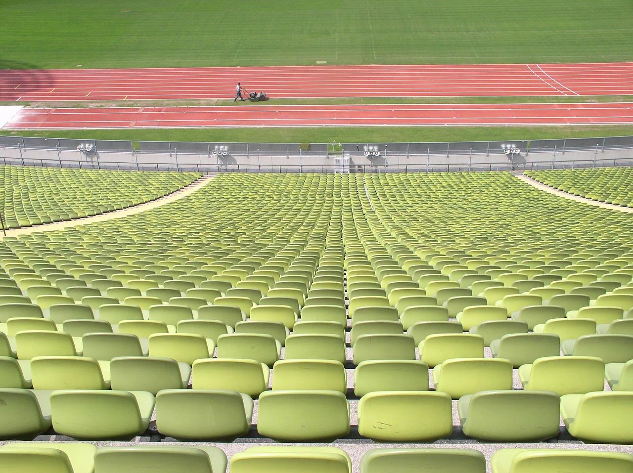 rows of chairs rows of seats oympiastadion free photo