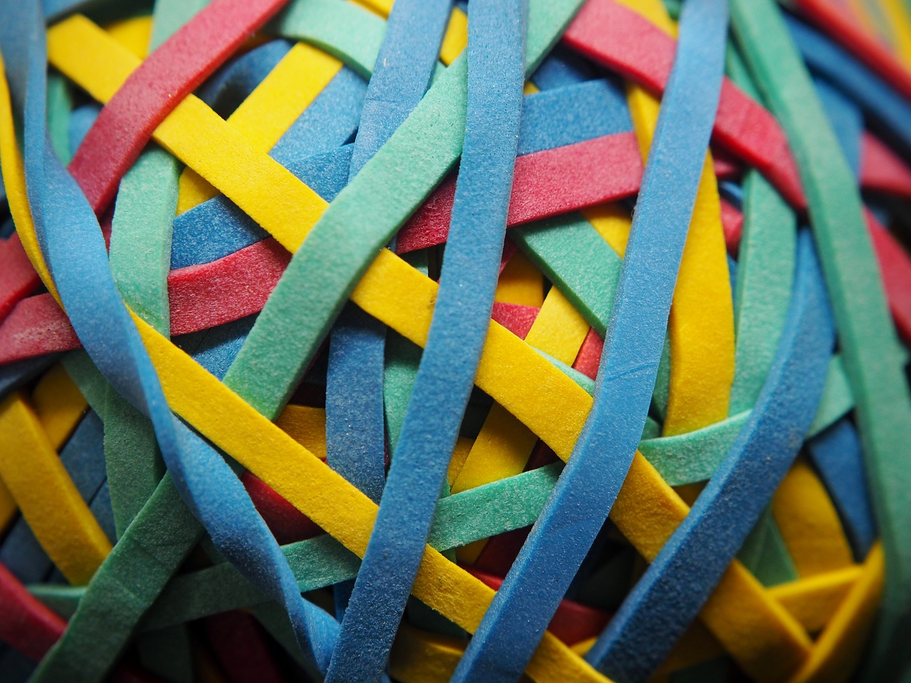 rubber band colorful knot free picture