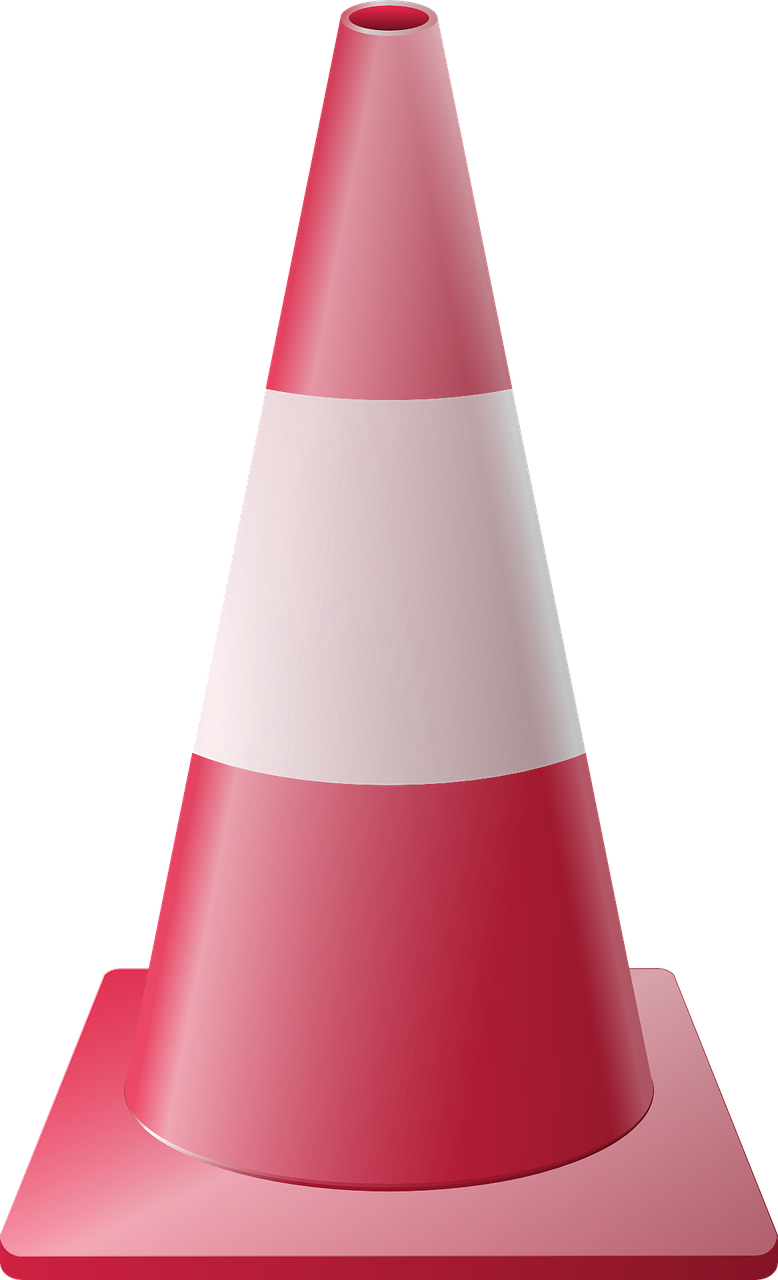 rubber cone parking cone parking free photo