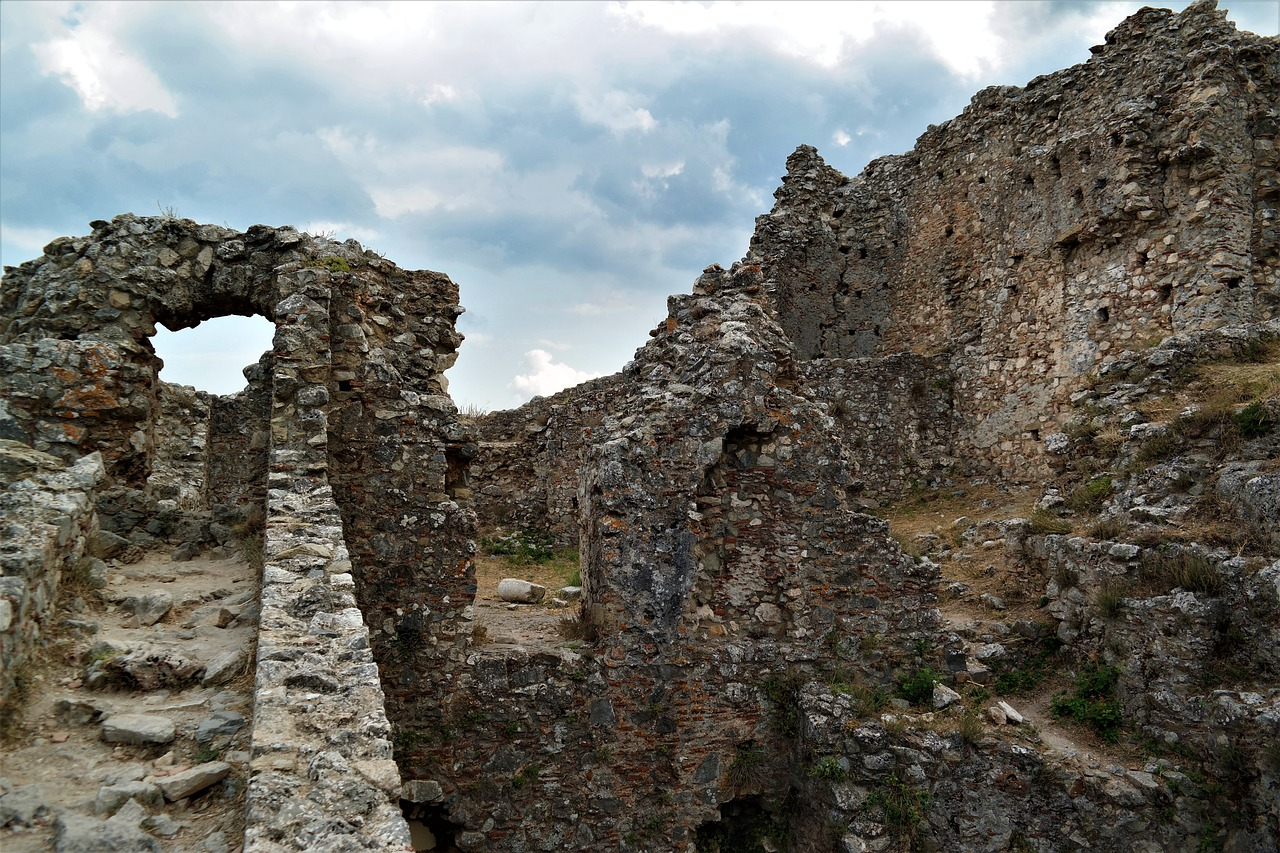 ruin castle ruined city free picture