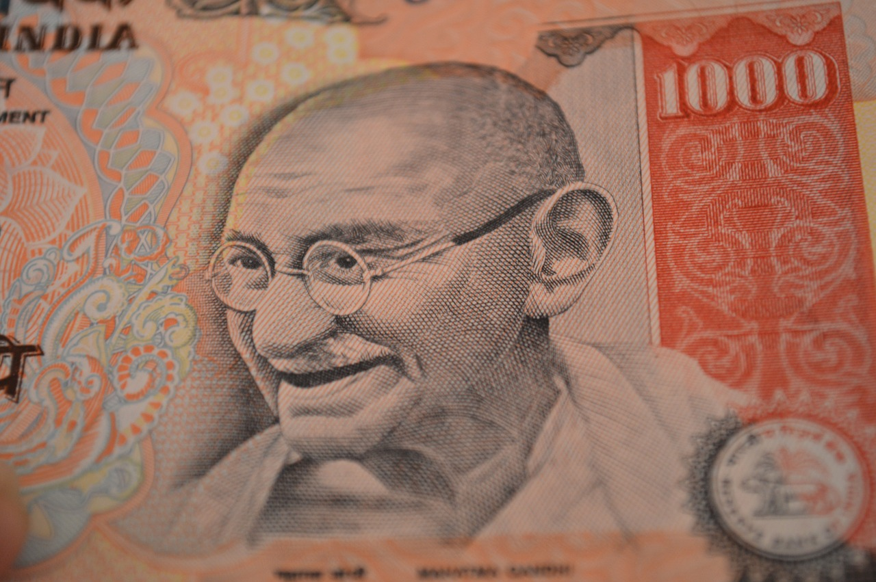 rupees mahatma gandhi thousand free picture