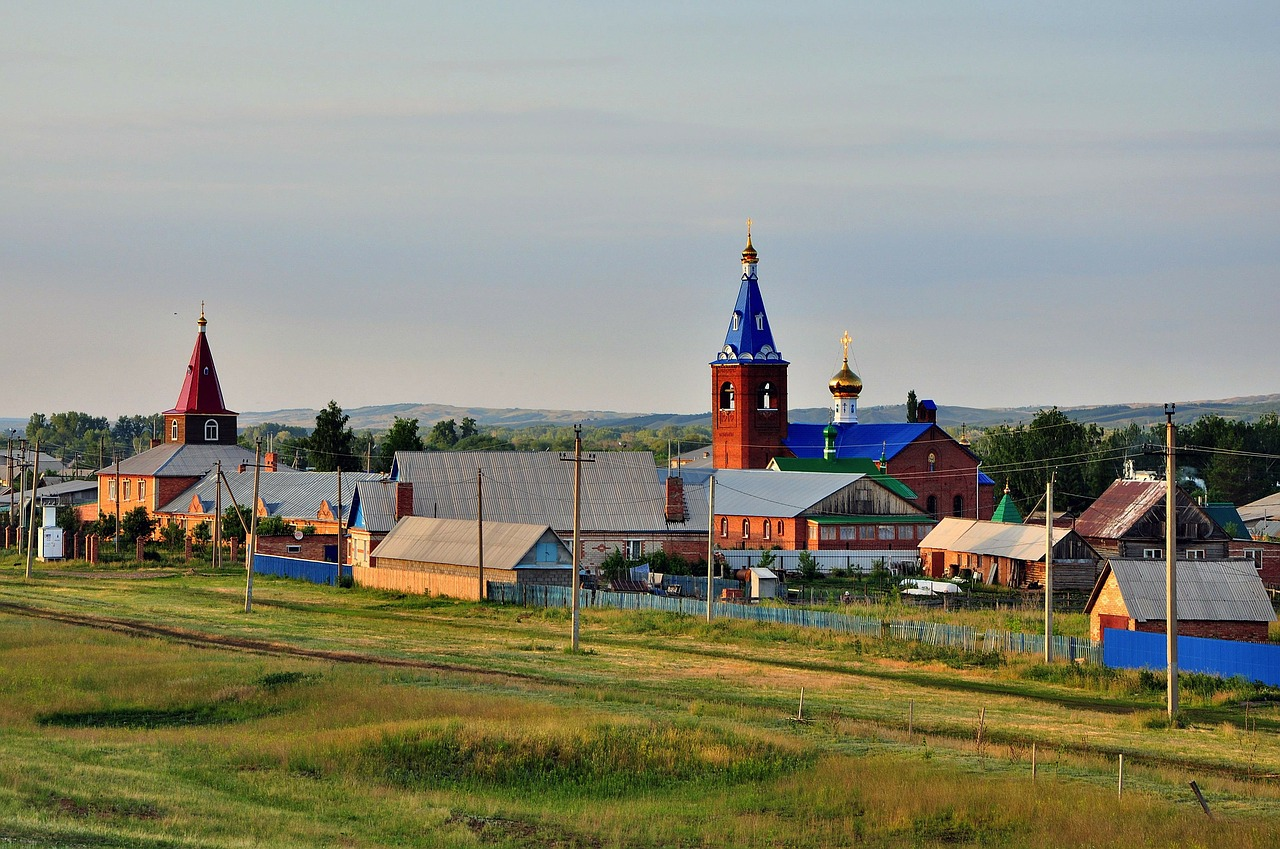 russia church village free photo