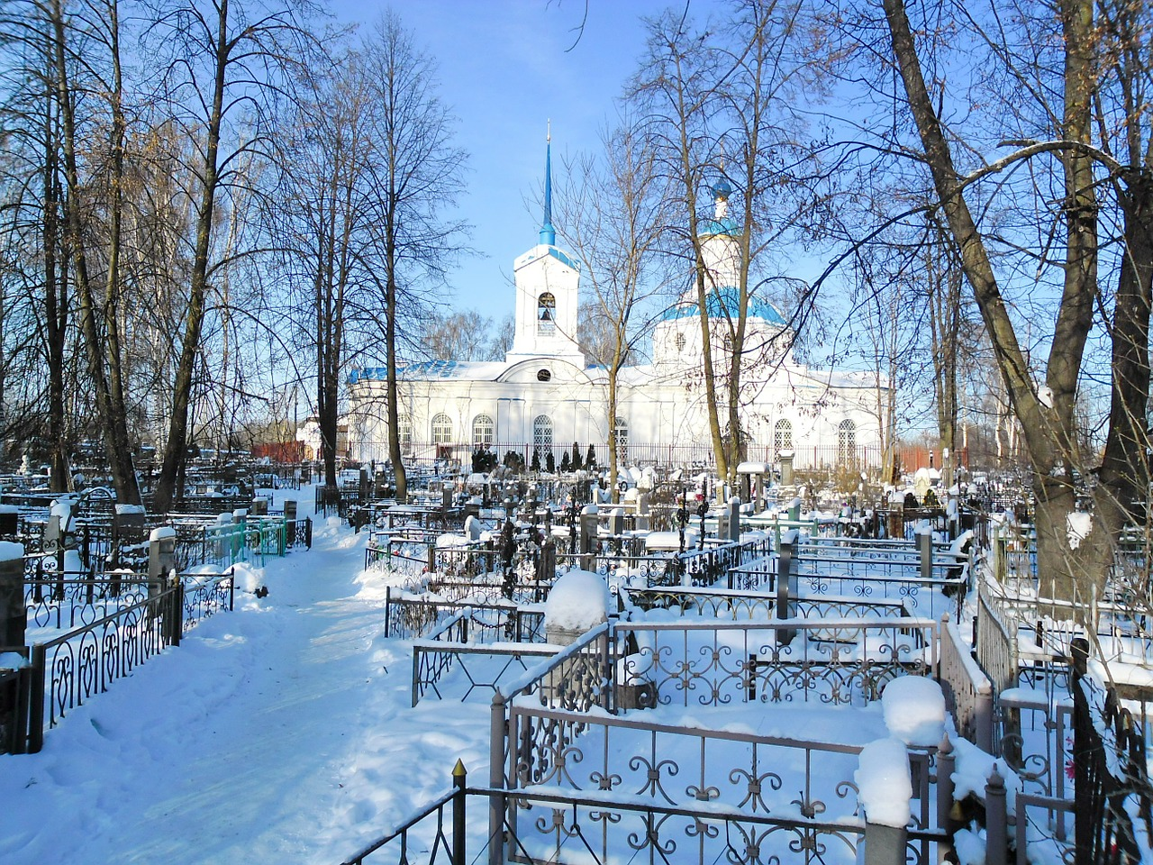 russian landscape church free photo
