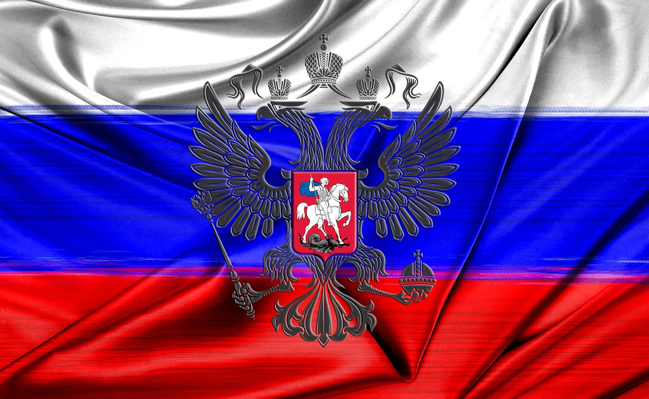 russian flag russian coat of arms russian imperial eagle free photo