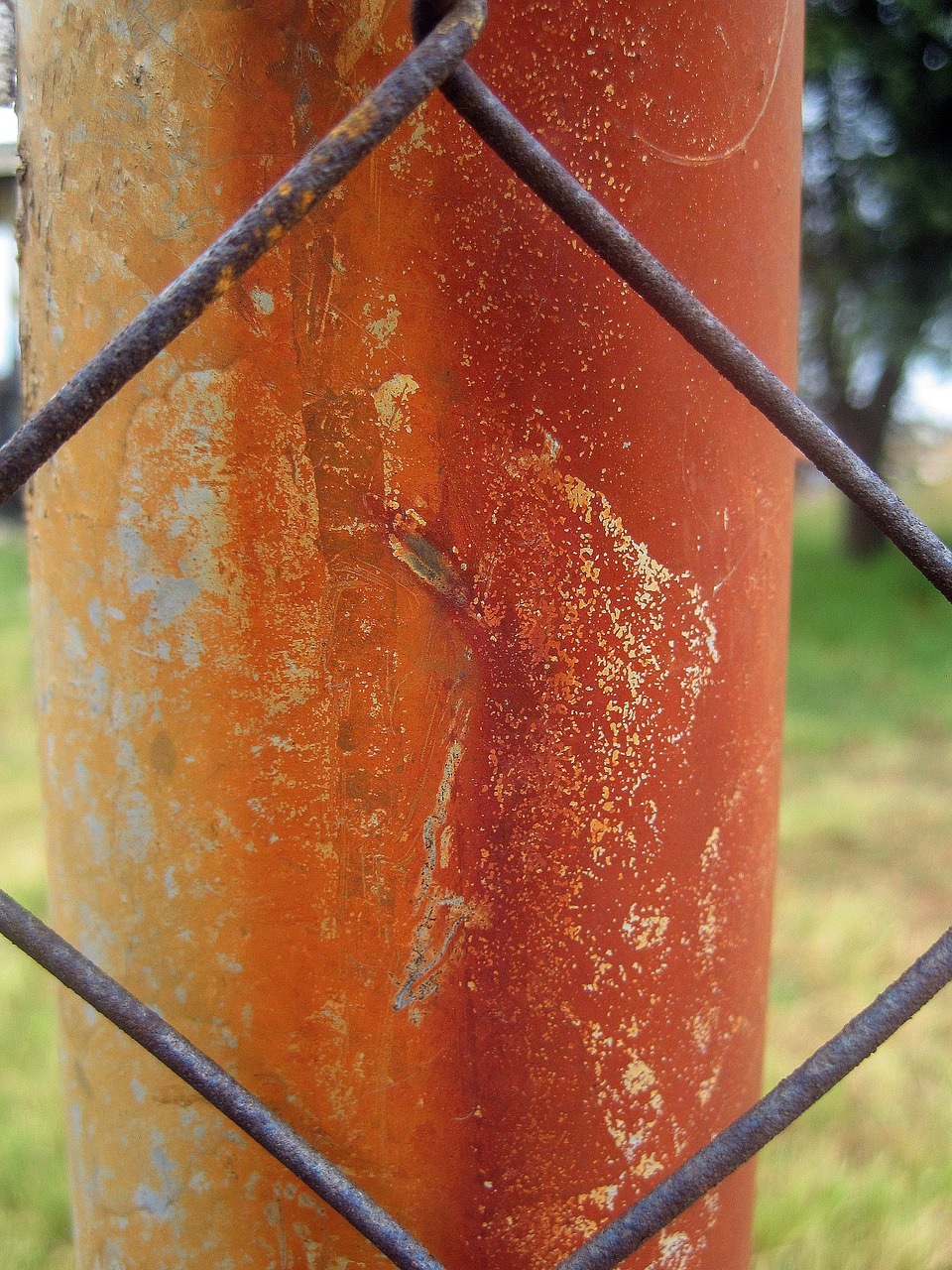 rusted pole pole upright free photo
