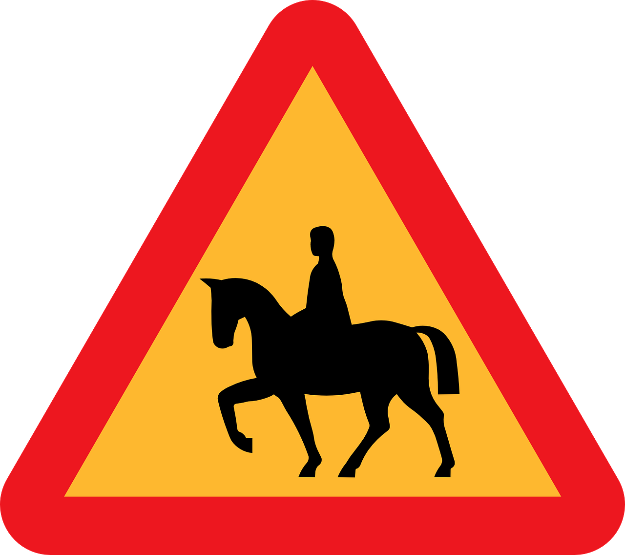 safety horse road free photo