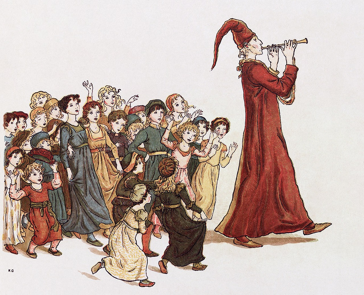 sage the pied piper of hamelin drawing free photo