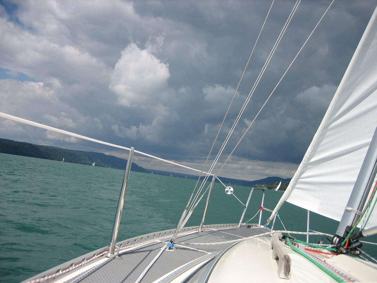 sail forward lake constance free photo