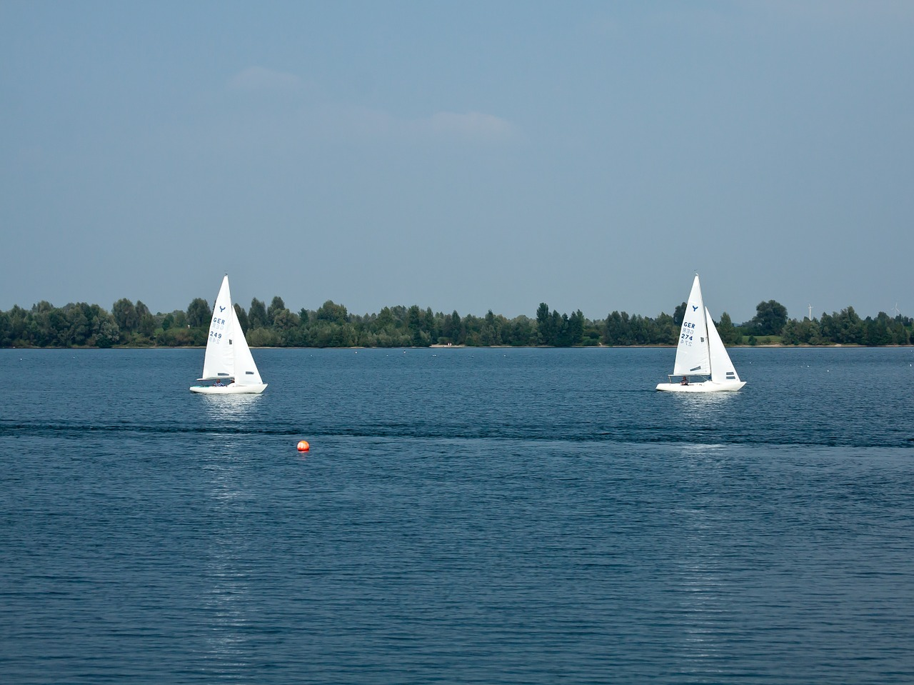 sailing boat sail lake free photo