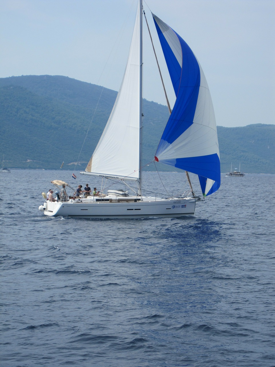 sailing boat sea yacht free photo