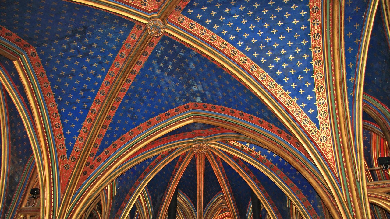 saint chapelle bourbon lilly paris free photo